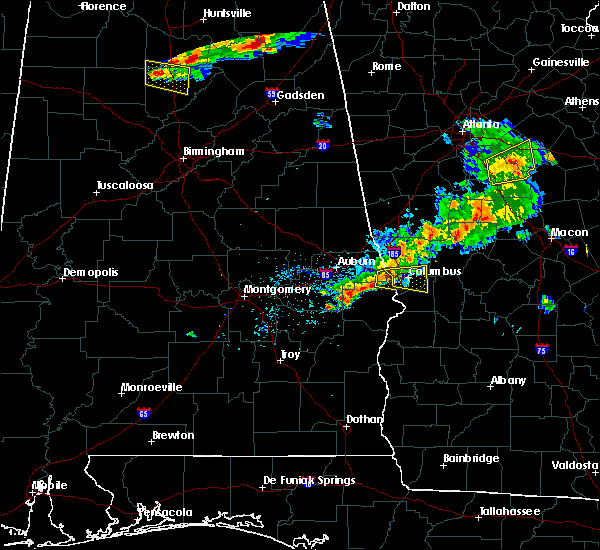 Radar Image for Severe Thunderstorms near Columbus, GA at 6/22/2018 8:08 PM EDT