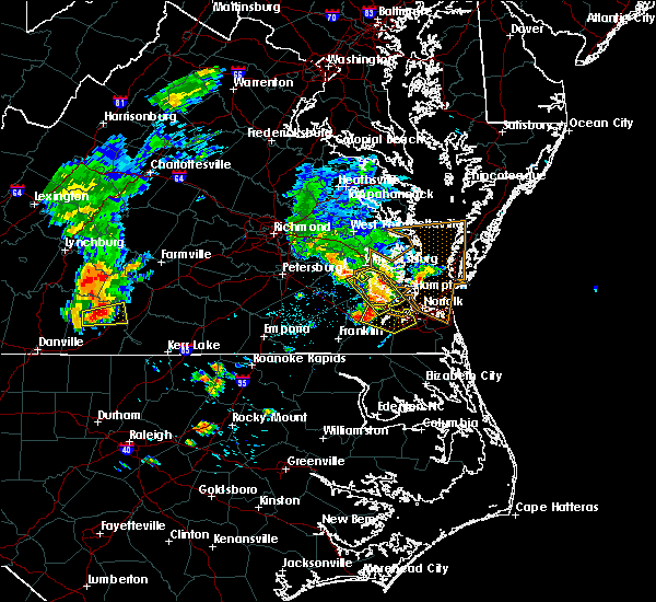 Radar Image for Severe Thunderstorms near Chesapeake, VA at 6/22/2018 8:28 PM EDT