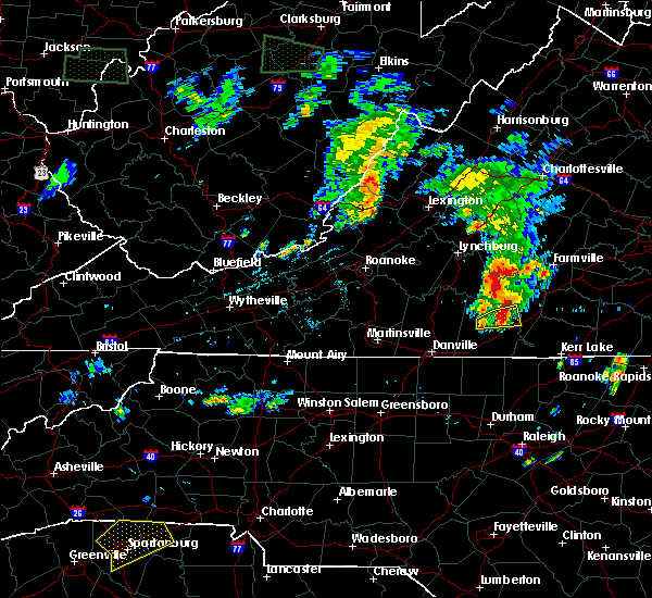 Radar Image for Severe Thunderstorms near Mountain Road, VA at 6/22/2018 8:37 PM EDT
