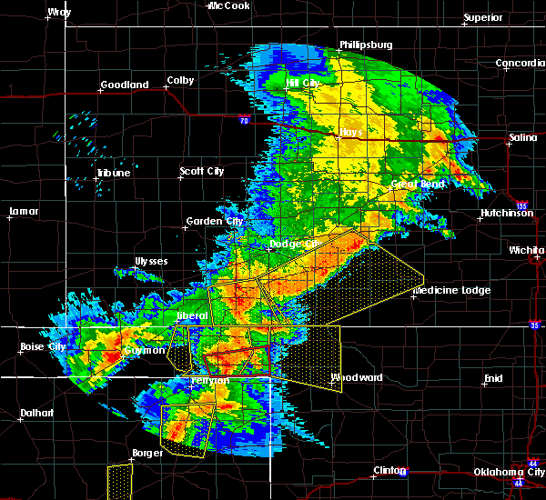 Radar Image for Severe Thunderstorms near Woodward, OK at 6/22/2018 7:40 PM CDT