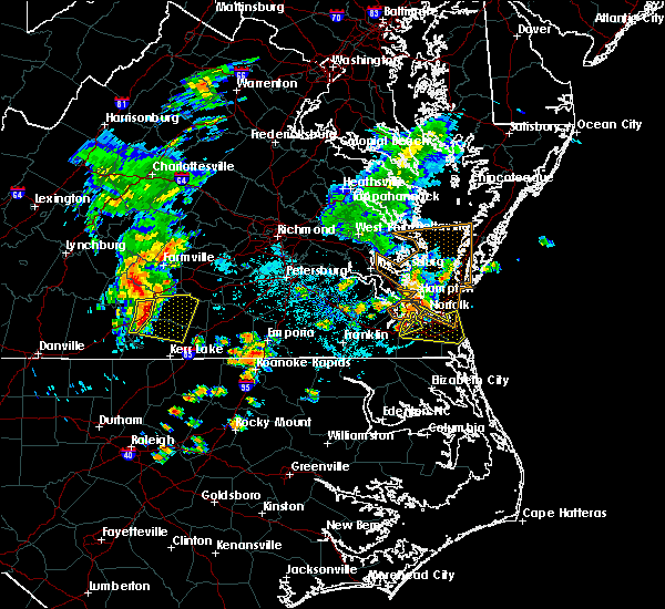 Radar Image for Severe Thunderstorms near Chesapeake, VA at 6/22/2018 9:08 PM EDT