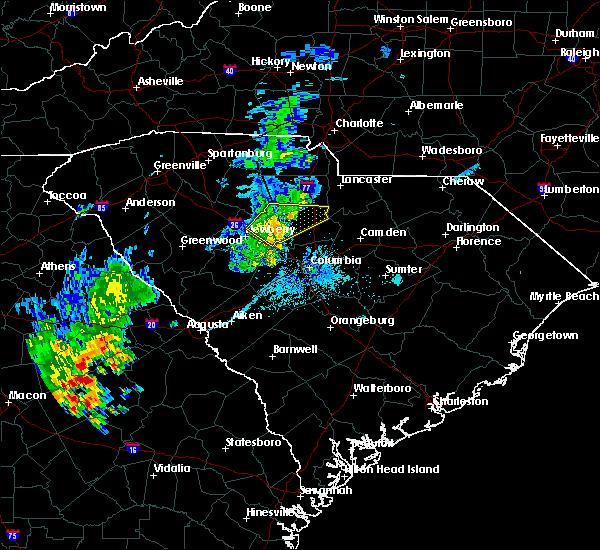 Radar Image for Severe Thunderstorms near Winnsboro, SC at 6/22/2018 9:56 PM EDT