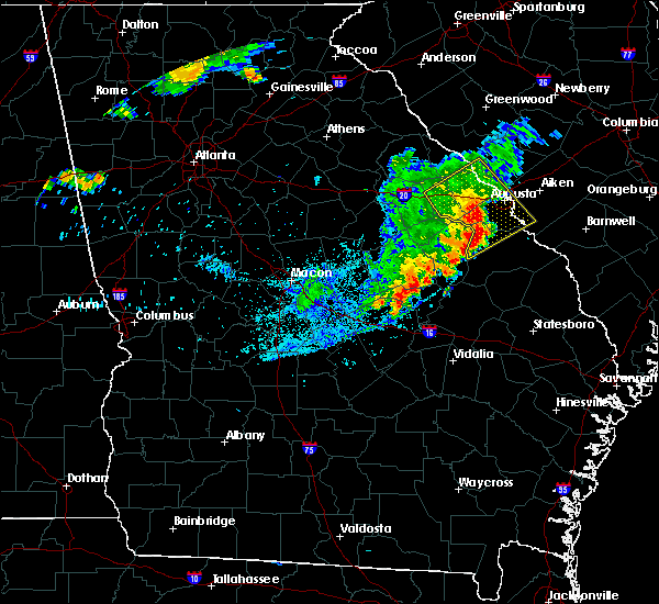 Radar Image for Severe Thunderstorms near Thomson, GA at 6/22/2018 10:59 PM EDT