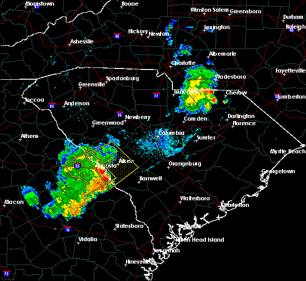 Radar Image for Severe Thunderstorms near Belvedere, SC at 6/22/2018 11:27 PM EDT