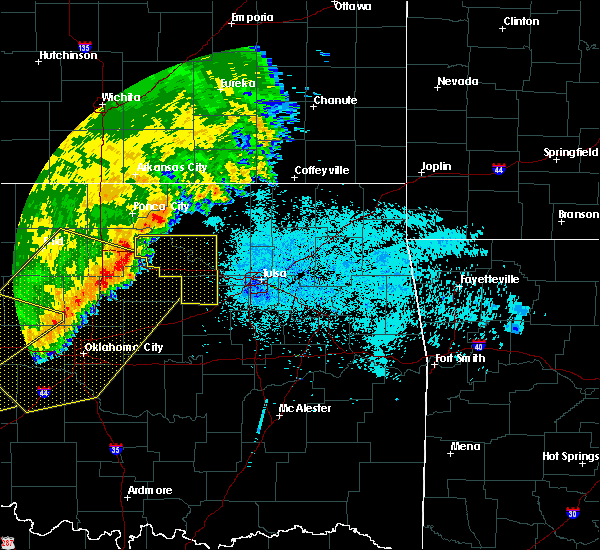 Radar Image for Severe Thunderstorms near Cleveland, OK at 6/22/2018 10:45 PM CDT