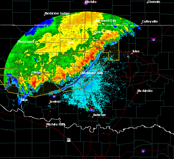 Radar Image for Severe Thunderstorms near Morrison, OK at 6/22/2018 11:00 PM CDT