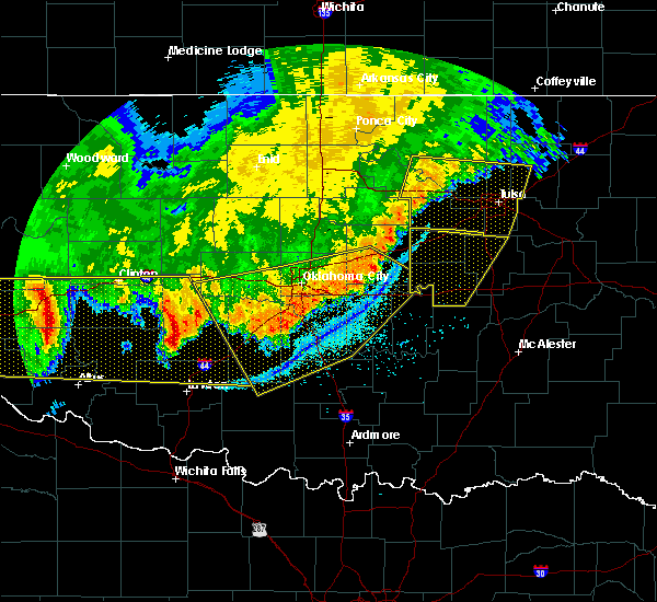 Radar Image for Severe Thunderstorms near Pink, OK at 6/22/2018 11:34 PM CDT