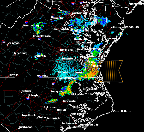 Radar Image for Severe Thunderstorms near Chesapeake, VA at 6/23/2018 12:38 AM EDT