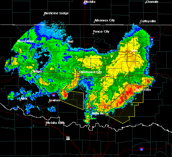 Radar Image for Severe Thunderstorms near Lane, OK at 6/23/2018 1:32 AM CDT