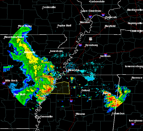 Radar Image for Severe Thunderstorms near West Memphis, AR at 6/23/2018 7:27 AM CDT