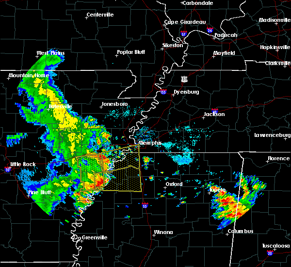Radar Image for Severe Thunderstorms near West Memphis, AR at 6/23/2018 7:28 AM CDT