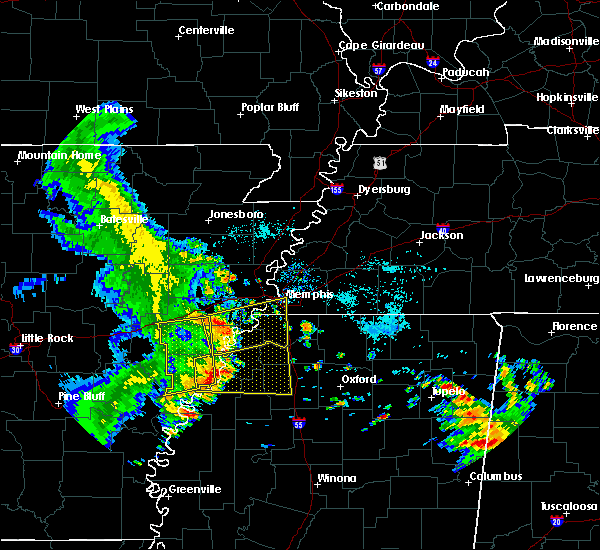 Radar Image for Severe Thunderstorms near West Memphis, AR at 6/23/2018 7:31 AM CDT