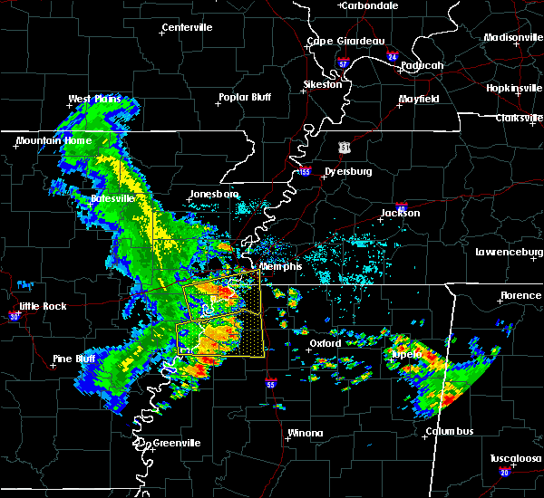 Radar Image for Severe Thunderstorms near West Memphis, AR at 6/23/2018 7:49 AM CDT