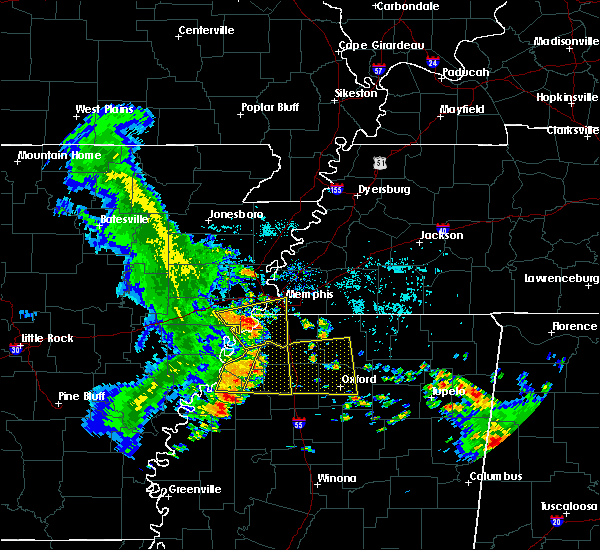 Radar Image for Severe Thunderstorms near West Memphis, AR at 6/23/2018 7:52 AM CDT