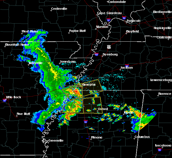 Radar Image for Severe Thunderstorms near West Memphis, AR at 6/23/2018 7:58 AM CDT