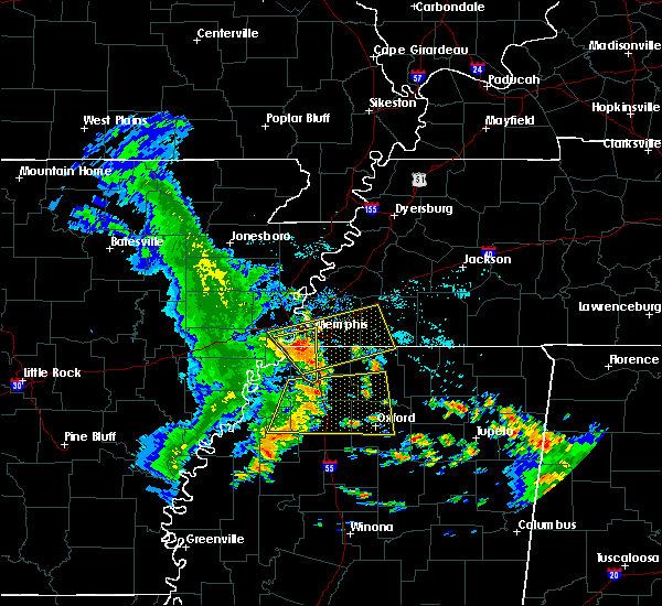 Radar Image for Severe Thunderstorms near West Memphis, AR at 6/23/2018 8:08 AM CDT