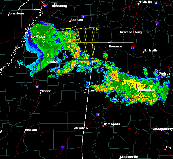 Radar Image for Severe Thunderstorms near Booneville, MS at 6/23/2018 9:38 AM CDT