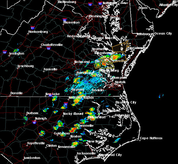 Radar Image for Severe Thunderstorms near West Point, VA at 6/23/2018 2:37 PM EDT