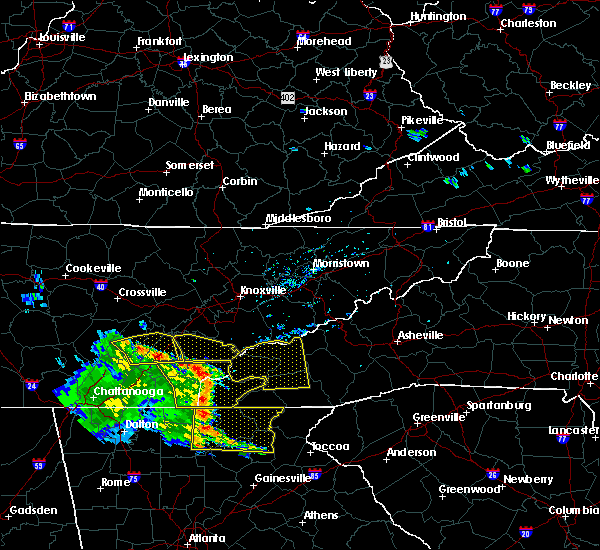 Radar Image for Severe Thunderstorms near Franklin, NC at 6/23/2018 3:19 PM EDT