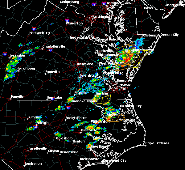 Radar Image for Severe Thunderstorms near Chesapeake, VA at 6/23/2018 3:25 PM EDT