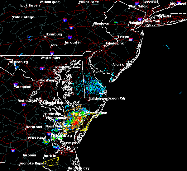 Radar Image for Severe Thunderstorms near Chincoteague, VA at 6/23/2018 3:25 PM EDT