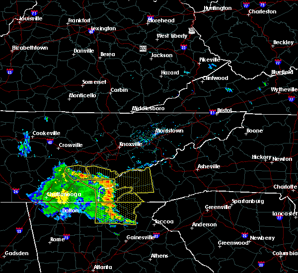 Radar Image for Severe Thunderstorms near Hayesville, NC at 6/23/2018 3:28 PM EDT