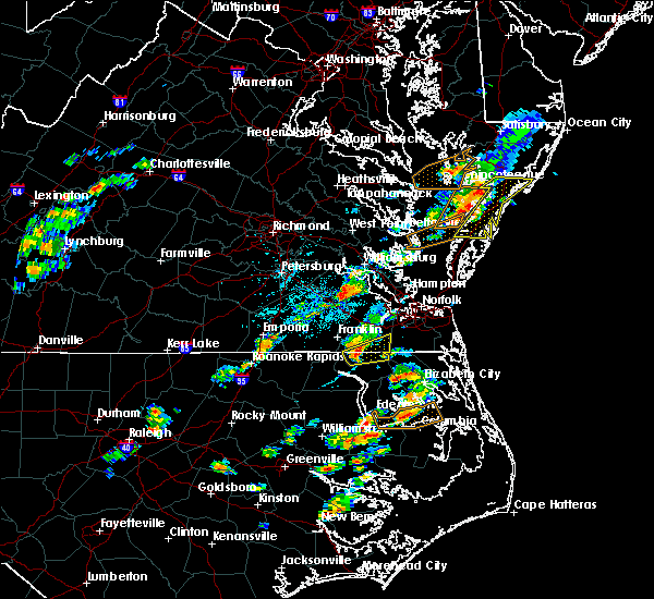 Radar Image for Severe Thunderstorms near Chesapeake, VA at 6/23/2018 3:37 PM EDT