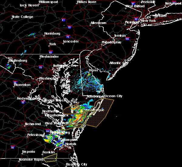Radar Image for Severe Thunderstorms near Chincoteague, VA at 6/23/2018 3:44 PM EDT