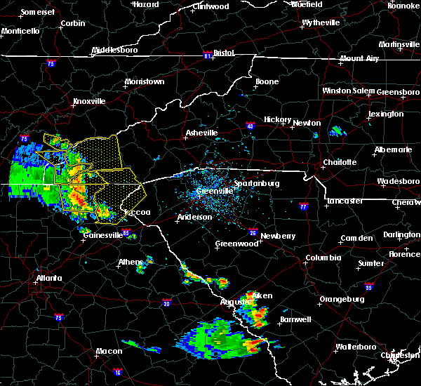 Radar Image for Severe Thunderstorms near Franklin, NC at 6/23/2018 3:47 PM EDT