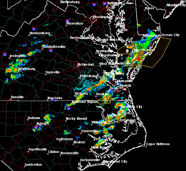 Radar Image for Severe Thunderstorms near Chesapeake, VA at 6/23/2018 3:50 PM EDT