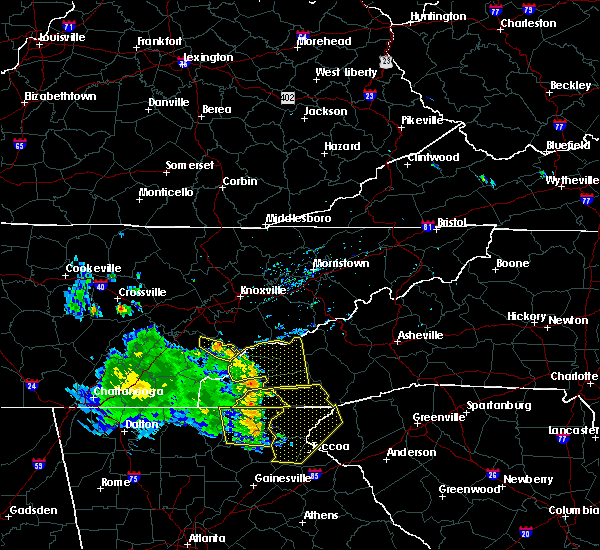 Radar Image for Severe Thunderstorms near Franklin, NC at 6/23/2018 3:50 PM EDT
