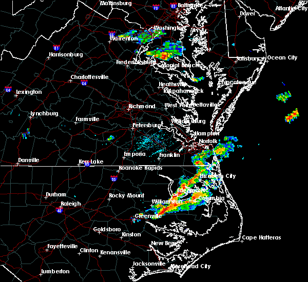 Radar Image for Severe Thunderstorms near Chesapeake, VA at 6/23/2018 7:27 PM EDT