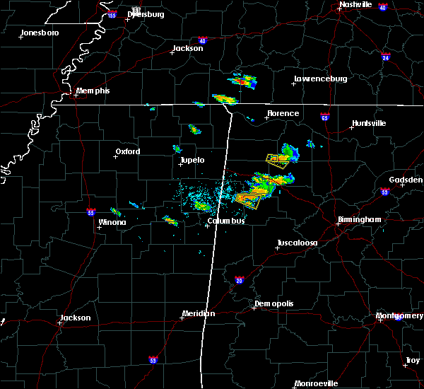 Radar Image for Severe Thunderstorms near Fayette, AL at 6/23/2018 6:40 PM CDT