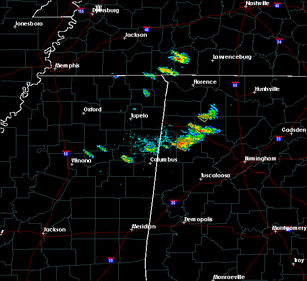 Radar Image for Severe Thunderstorms near Fayette, AL at 6/23/2018 6:50 PM CDT
