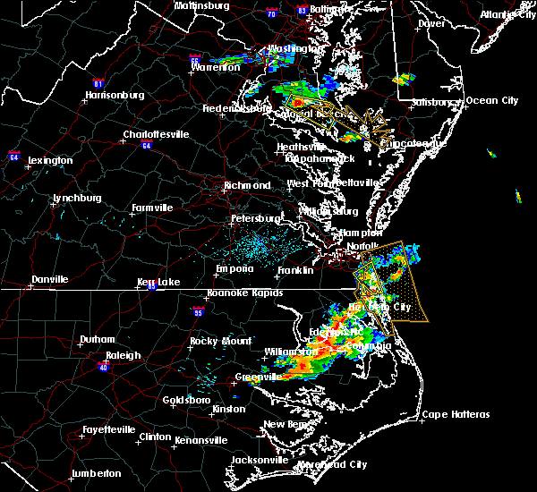 Radar Image for Severe Thunderstorms near Chesapeake, VA at 6/23/2018 7:50 PM EDT
