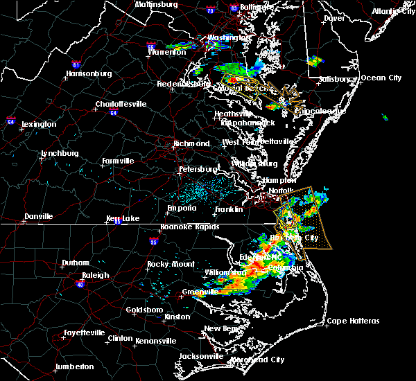 Radar Image for Severe Thunderstorms near Chesapeake, VA at 6/23/2018 7:52 PM EDT