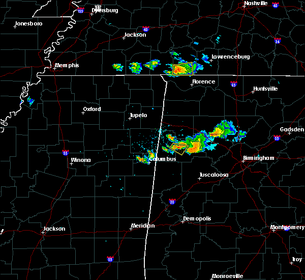 Radar Image for Severe Thunderstorms near Fayette, AL at 6/23/2018 7:48 PM CDT
