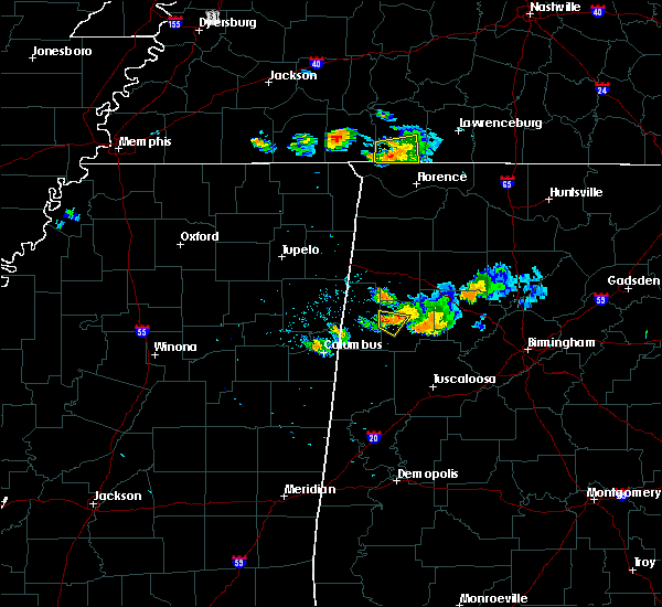 Radar Image for Severe Thunderstorms near Fayette, AL at 6/23/2018 8:00 PM CDT
