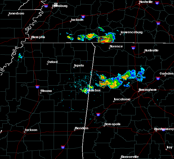 Radar Image for Severe Thunderstorms near Iron City, TN at 6/23/2018 8:04 PM CDT