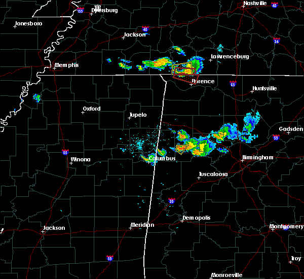 Radar Image for Severe Thunderstorms near Fayette, AL at 6/23/2018 8:10 PM CDT