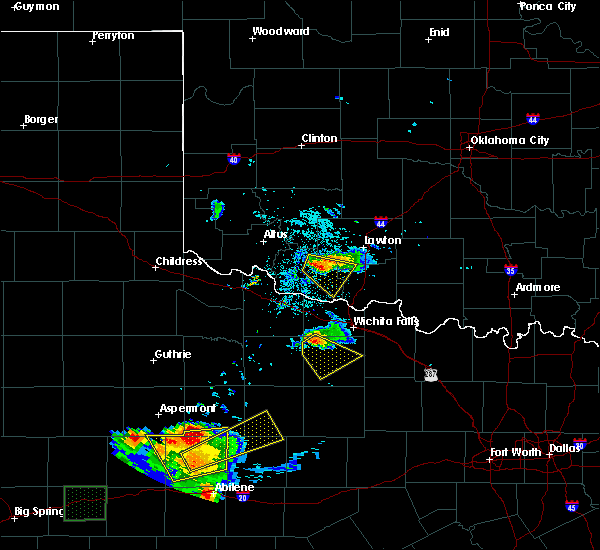 Radar Image for Severe Thunderstorms near Scotland, TX at 6/23/2018 9:21 PM CDT
