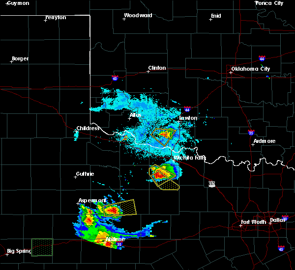 Radar Image for Severe Thunderstorms near Archer City, TX at 6/23/2018 9:57 PM CDT