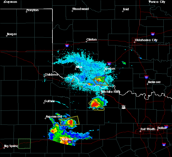 Radar Image for Severe Thunderstorms near Archer City, TX at 6/23/2018 10:12 PM CDT