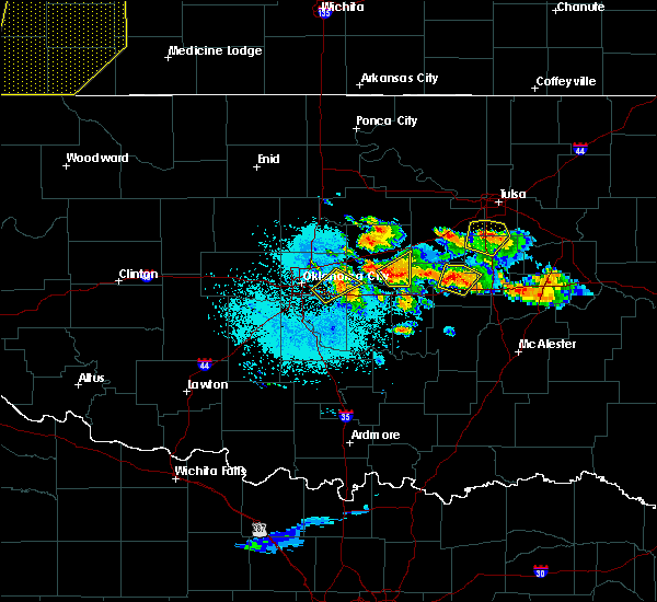 Radar Image for Severe Thunderstorms near Prague, OK at 6/24/2018 12:06 AM CDT