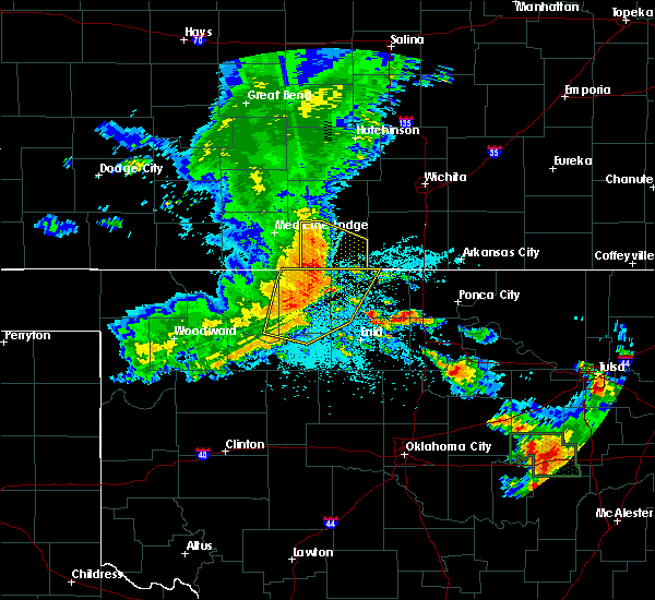 Radar Image for Severe Thunderstorms near Jet, OK at 6/24/2018 2:14 AM CDT