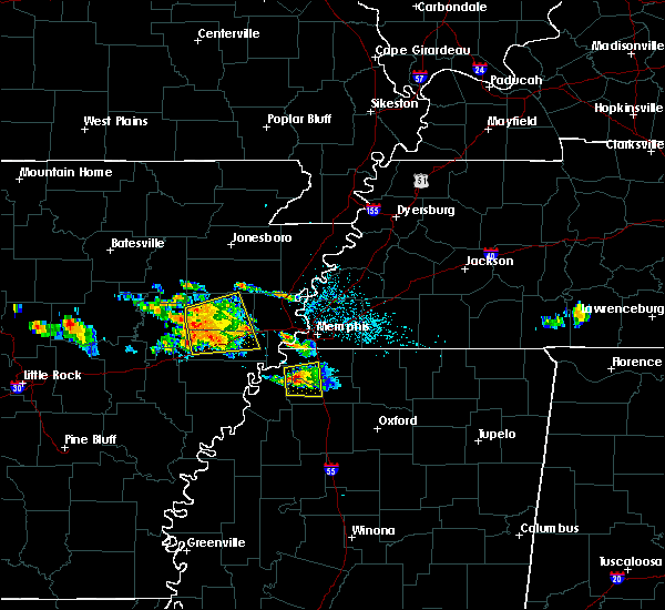 Radar Image for Severe Thunderstorms near Coldwater, MS at 6/24/2018 3:03 AM CDT