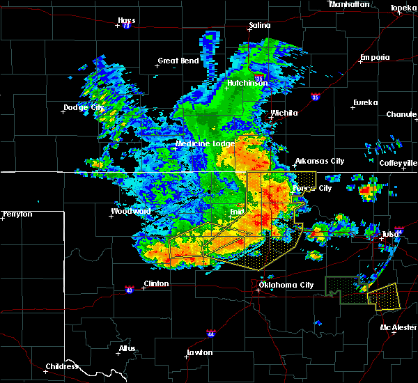 Radar Image for Severe Thunderstorms near Ralston, OK at 6/24/2018 3:27 AM CDT