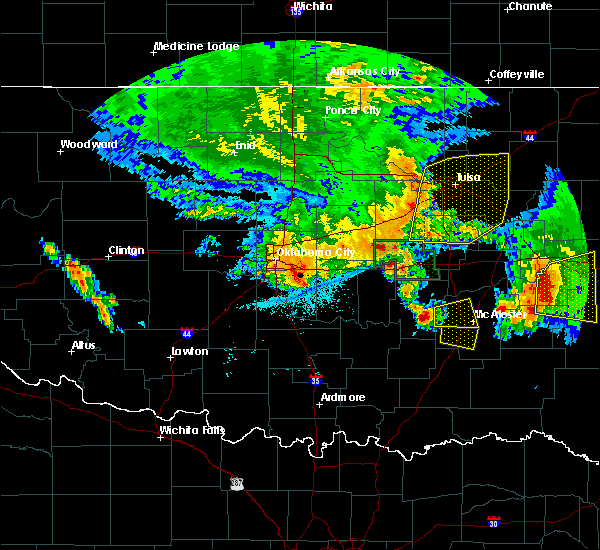 Radar Image for Severe Thunderstorms near Pittsburg, OK at 6/24/2018 5:13 AM CDT