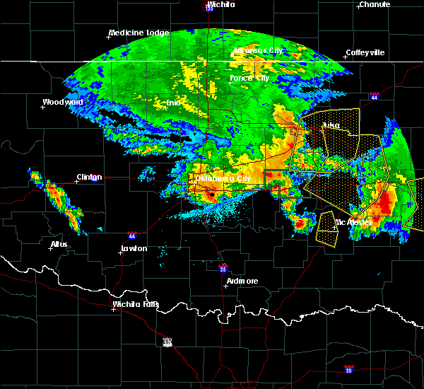 Radar Image for Severe Thunderstorms near Pittsburg, OK at 6/24/2018 5:23 AM CDT