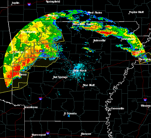 Radar Image for Severe Thunderstorms near Ola, AR at 6/24/2018 7:43 AM CDT